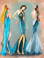 Daughters of Poseidon Fashion Collection 1 by BasakTinli