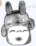 Totoro hand drawing by Adeu