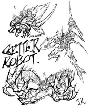 GETTER ROBOT by freedomz3