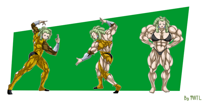 Commission - Arania muscle growth sequence by MATL