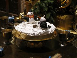 hogwarts Great hall film set  Christmas cake by Sceptre63