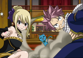 Fairy Tail Natsu and Lucy 478 by genezizpa