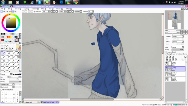 Jack Frost WIP by barboshi