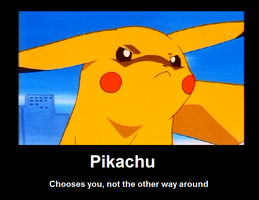 Pikachu motivational poster by sukai-kitsune