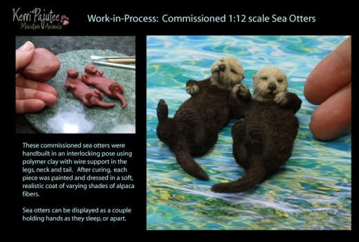 WIP Miniature Sea Otter sculptures... by Pajutee