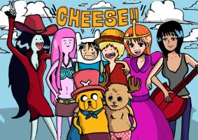 Adventure Time x One Piece by Geri8385