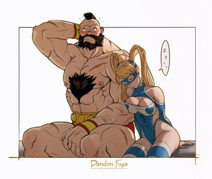 Zangief and Mika by dandonfuga