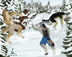 Snowball Fight by KeksWolf