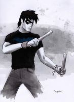 Nightwing casual (Young Justice) by AdamBayes