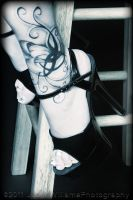 Stool, tattoo, and Heels by Seiran-Photography