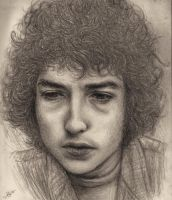 Bob Dylan in Pencil-Graphite by dwightyoakamfan