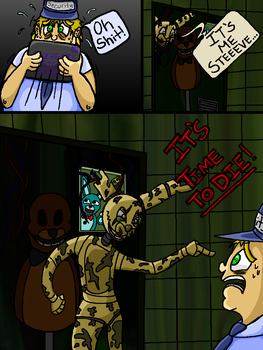 BACK WITH VENGEANCE FNAF COMIC PAGE 3 by Kittylover9399