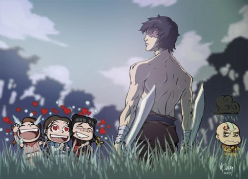 Zuko and the fan girls by Michael-Chang