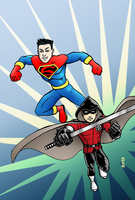 Superboy and Robin - The Super Sons by herrenmedia