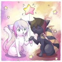Gift for Notearl and Zeseku by KagamiiX