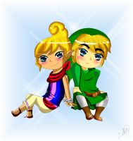 Link and Tetra by CandiiGurll