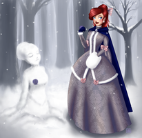 The little snowmaid by Rishnea