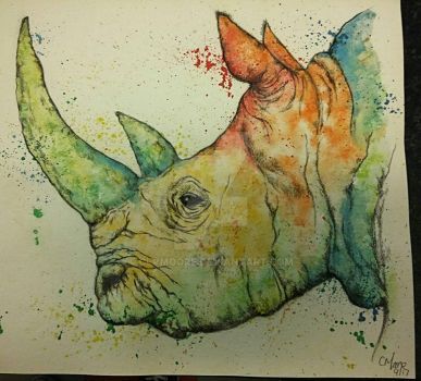 Rhino #2 by clvmoore