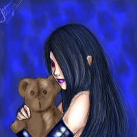 Lulu and a bear by nightambre