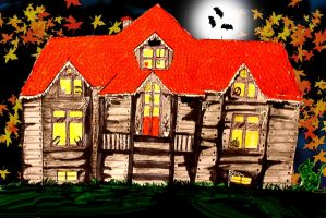 Day 5: Haunted House by chaosqueen122