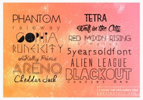 Fonts - Pack 01 by coral-m