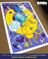 Adventure Time Game Time Limited Edition Poster by DoomCMYK