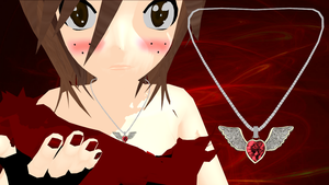 Winged Heart Necklace by ninjapirate10194