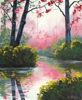 Stream reflections by artsaus