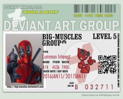 BigMuscles New ID Deadpool Edition by GreysonFurrington