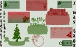 x-mas gift tags by therealShelob