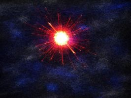 Exploding star by Tomasos
