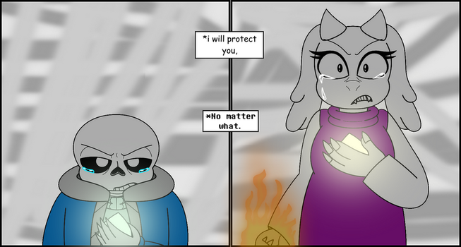 Soriel Week 2017 Day 4 - Protection by GamingInGreen13