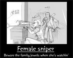 Fem sniper motivational by flammingroy