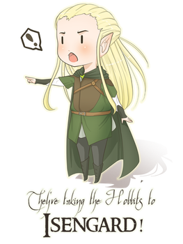 They're taking the Hobbits to Isengard by Chiichanny