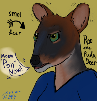 Roo the Pudu by woundedkneecap