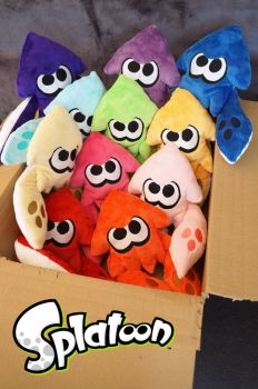 Squid plushes by Fafatacle