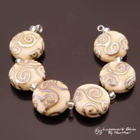 Metallic Scrolls on Cream by booga119