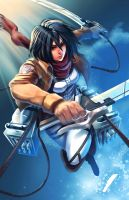 SnK- Mikasa Ackerman by Will2Link