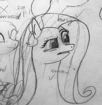 Confluttershy is confluttershuzzled by wolfzoon