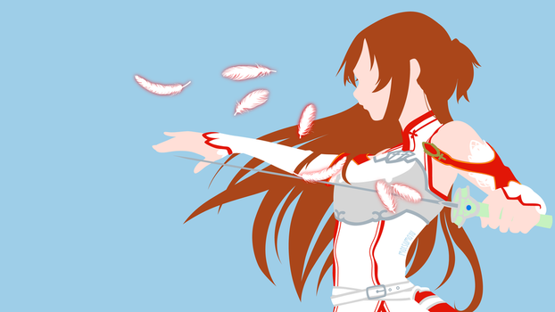 Asuna from Sword Art Online | Minimalist by matsumayu