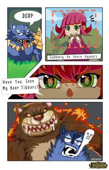 LoL Comic Contest: Annie and Warwick by Reicandy