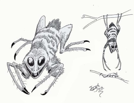 Arachnoraptor damocles by HodariNundu