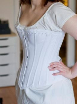 1880s coutil corset by peskaa