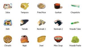 Japanese Cuisine Icons by algebraman