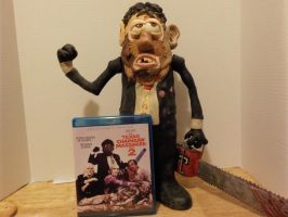 Leatherface Bubba potatohead with dvd cover by Potatoheadmaster