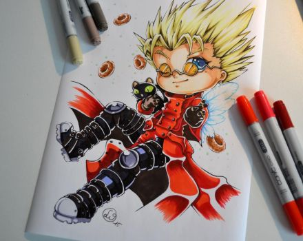 Vash the Stampede and Kuroneko by Lighane