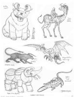 Hybrid Critters by strickart