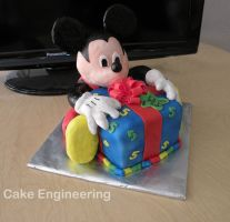 Mickey Mouse cake by cake-engineering