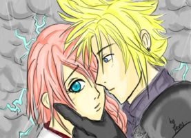 Cloud x Lightning - FFVII+XIII by Limoncello-x3