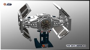 TIE Advanced x1 v2.9 front by ALKIDO
